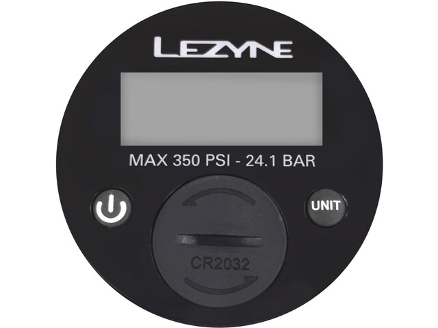 """Lezyne manomètre 2,5"""" Digital 350PSI pour toutes pompes à pied, black"""